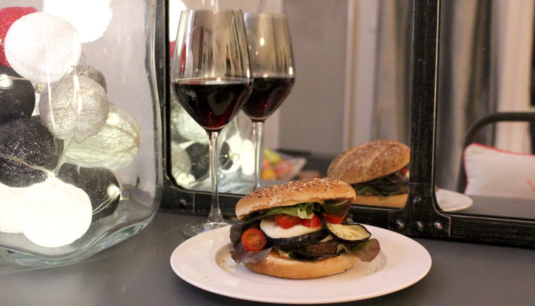 Mes burgers Veggies #1 : Aubergine & Mozzarella