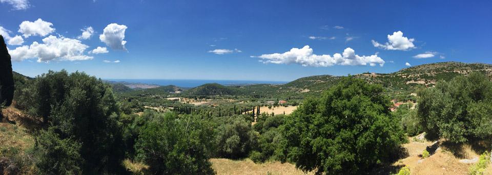 Fiskardo-panorama- Road trip en Céphalonie par Il etait une veggie