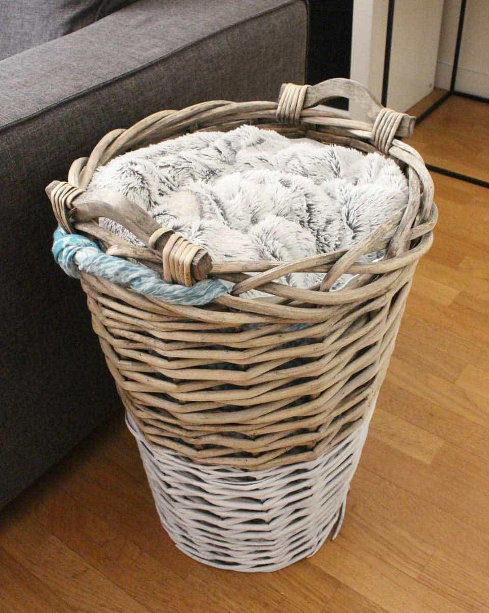 Diy d co customiser un panier en osier il etait une veggie - Decorer un panier en osier ...