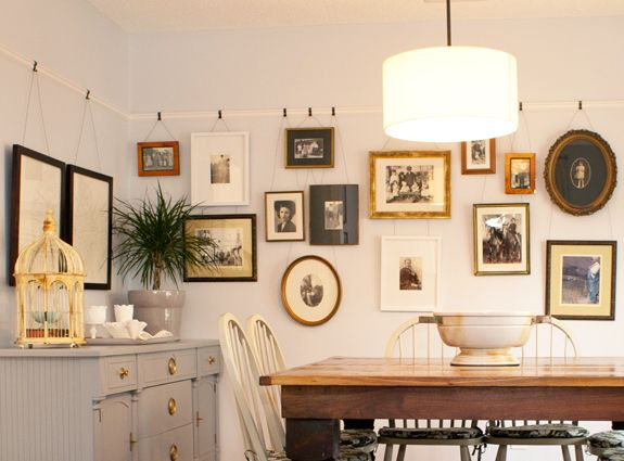 Hanging Art on a Picture Rail on Picture Hanging Idea  id=69552
