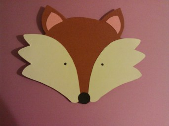 Fox birthday card