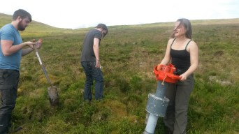 Sampling a plot in the Yorkshire Dales