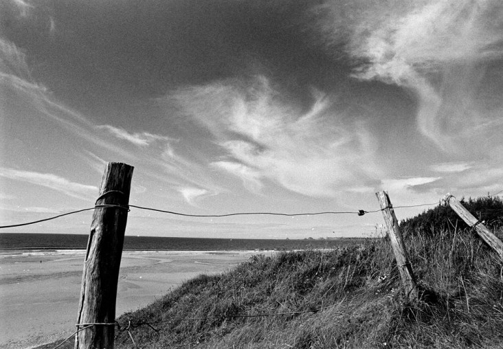 Black and white landscape photo shot on film