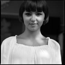 Tindara Papa Black and white film street portrait by Davide Rizzo