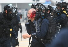 scontri a Hong Kong