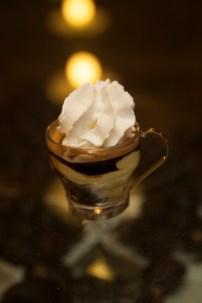 Affogato al caffè – (espresso, coffee gelato, and whipped cream)