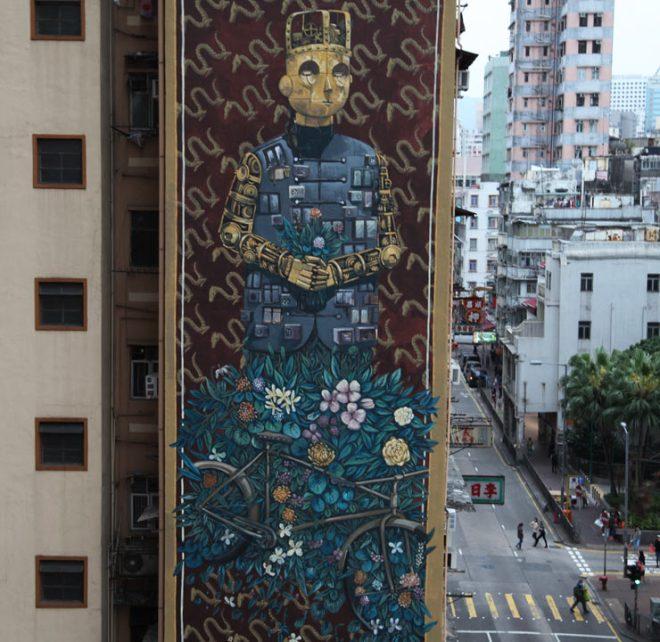 pixel pancho street art hong kong hk walls