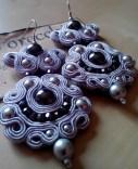 orecchini grigio perla