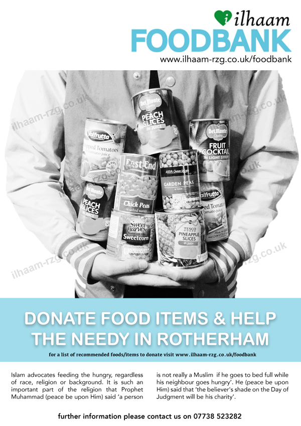 Poster - Ilhaam Foodbank Rotherham