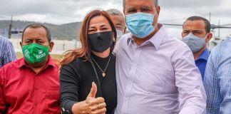 Soane Galvão e Rui Costa Governador da Bahia