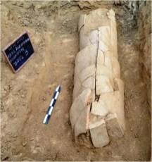 Ολυμπία: καλυβίτης (κεραμοσκεπής) τάφος βορείως του αναλημματικού τοίχου του Κρονίου Λόφου