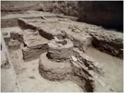 Υστερορρωμαϊκά κατάλοιπα αμέσως ανατολικά του αρχαίου Γυμνασίου της Ολυμπίας.