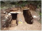 Από τη θέση «Τρανή Πέτρα» του γνωστού νεκροταφείου, προήλθε νέος κτιστός τάφος, ο οποίος, παρά την σύληση, διατηρούσε αρκετά κτερίσματα (μέσα 3ου-αρχές 2ου αι. π. Χ.).