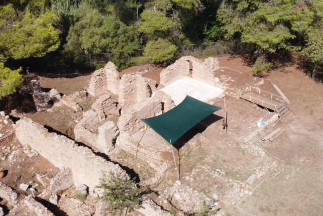 Θέρμες Κλαδέου, Αρχαιολογικός Χώρος Ολυμπίας
