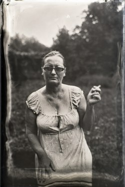 Mother portrait, Ambrotype 10x15cm