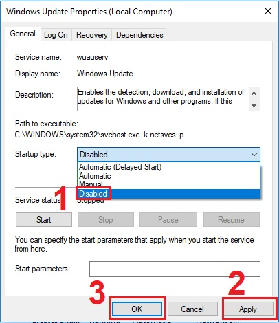 turn off windows 10 update