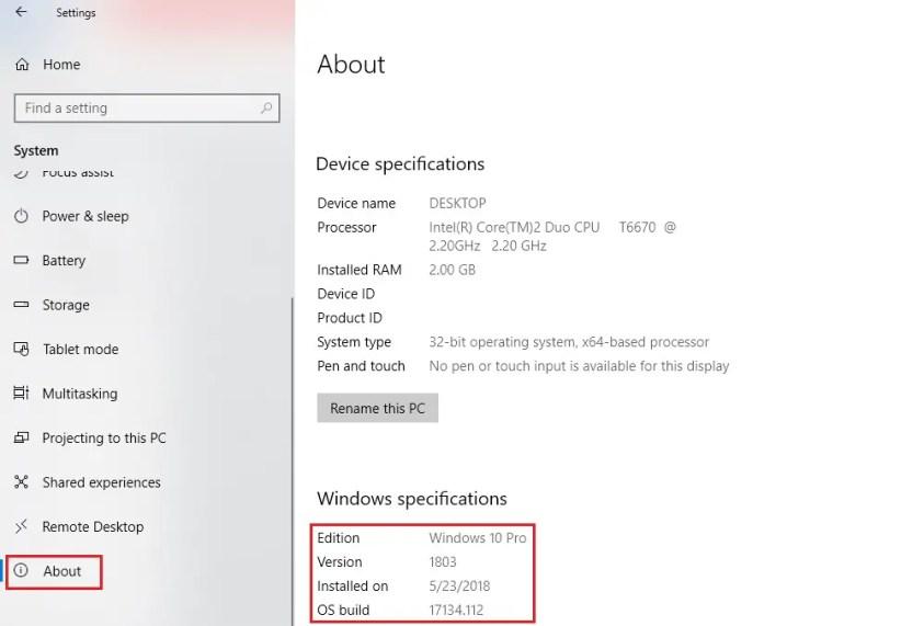 Image for windows 10 latest version
