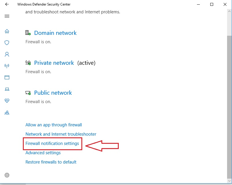 How to turn off firewall notifications in windows 10, windows 10 disable firewall notifications