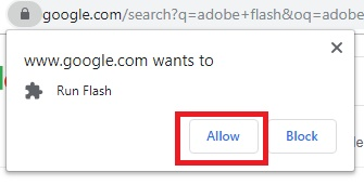 allow flash in chrome