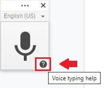 voice typing help, enable voice typing for dictation