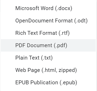 convert google doc into microsoft word, save google doc as pdf