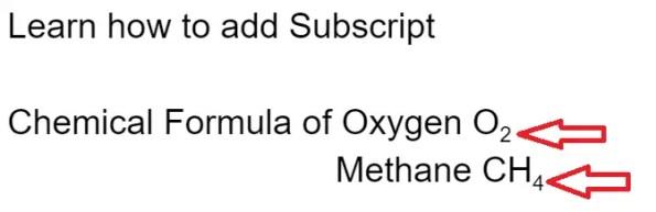 shortcut for subscript in google docs