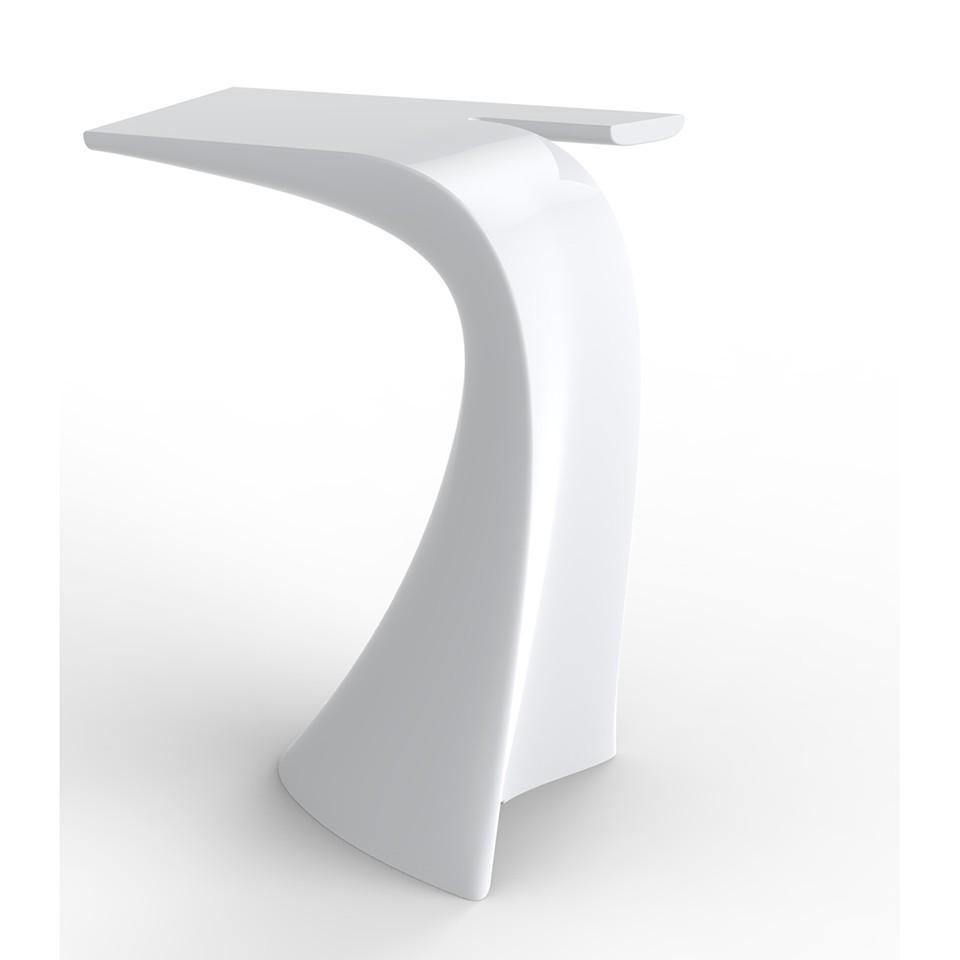 wing table haute laque blanc