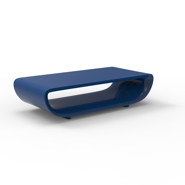 bum bum table basse bleu laque