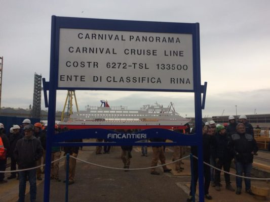 Carnival Panorama Floated Out From Italian Shipyard