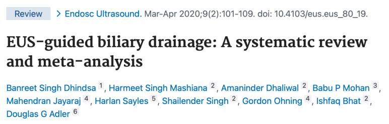 EUS-guided biliary drainage