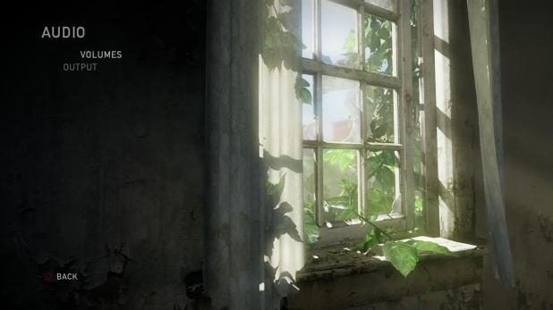 Main Menu - Last Of Us - Options - Audio