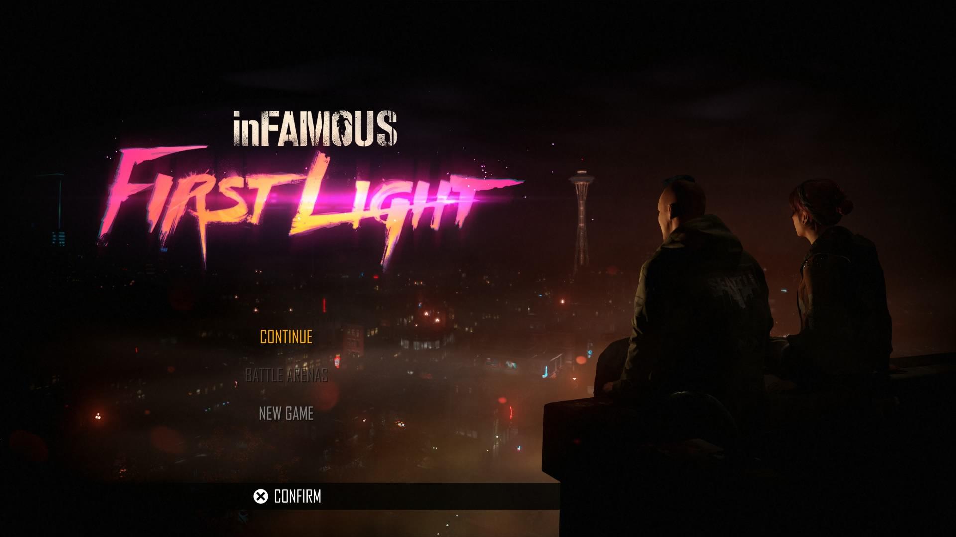 Main Menu - inFAMOUS - First Light