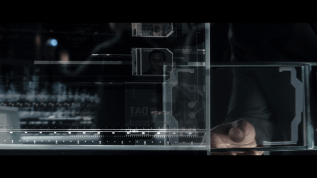 Data Transfer UI - Minority Report