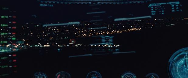 Helmet HUD UI - Iron Man 1