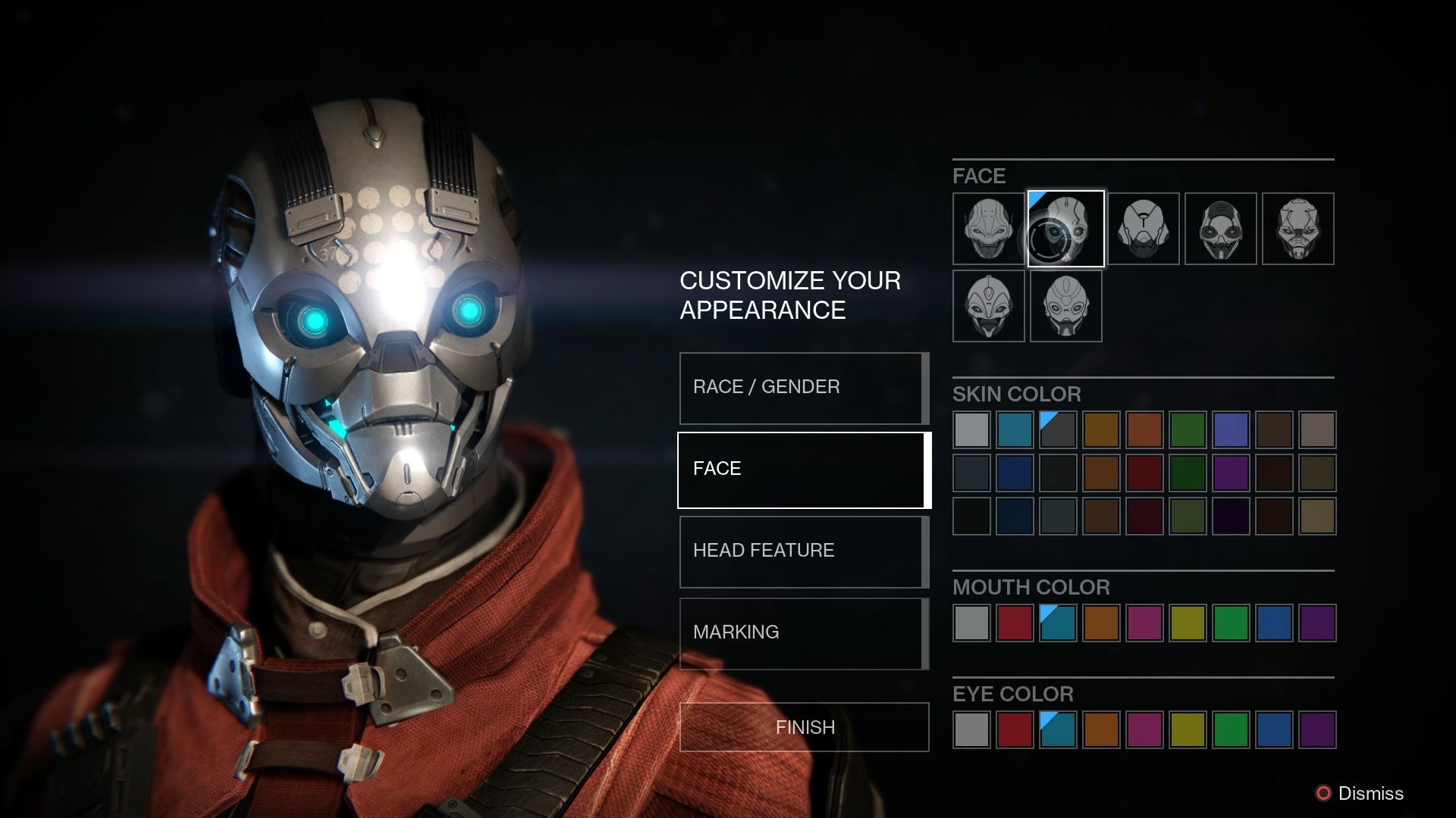 how to change destiny character appearance