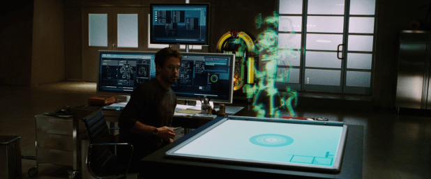 Hologram UI - Iron Man 1