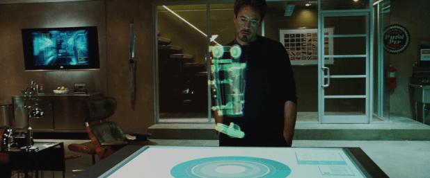 Hologram UI - Iron Man 1