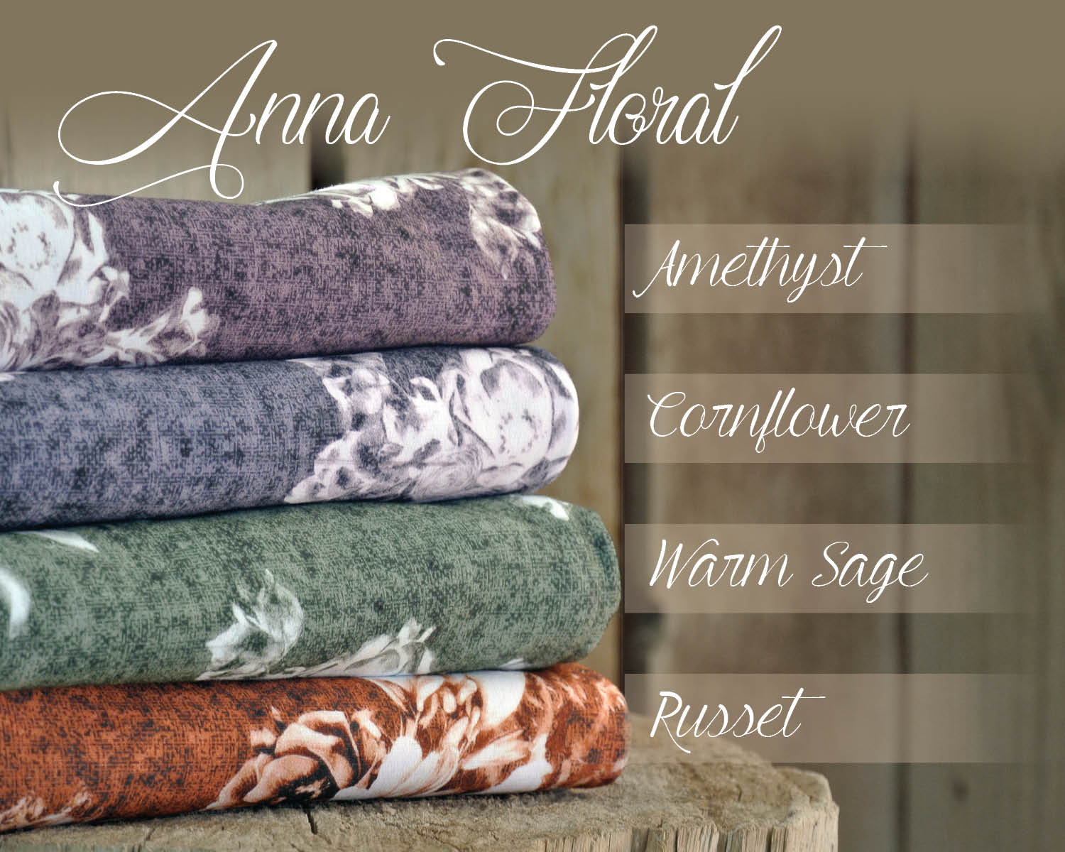 anna floral french terry