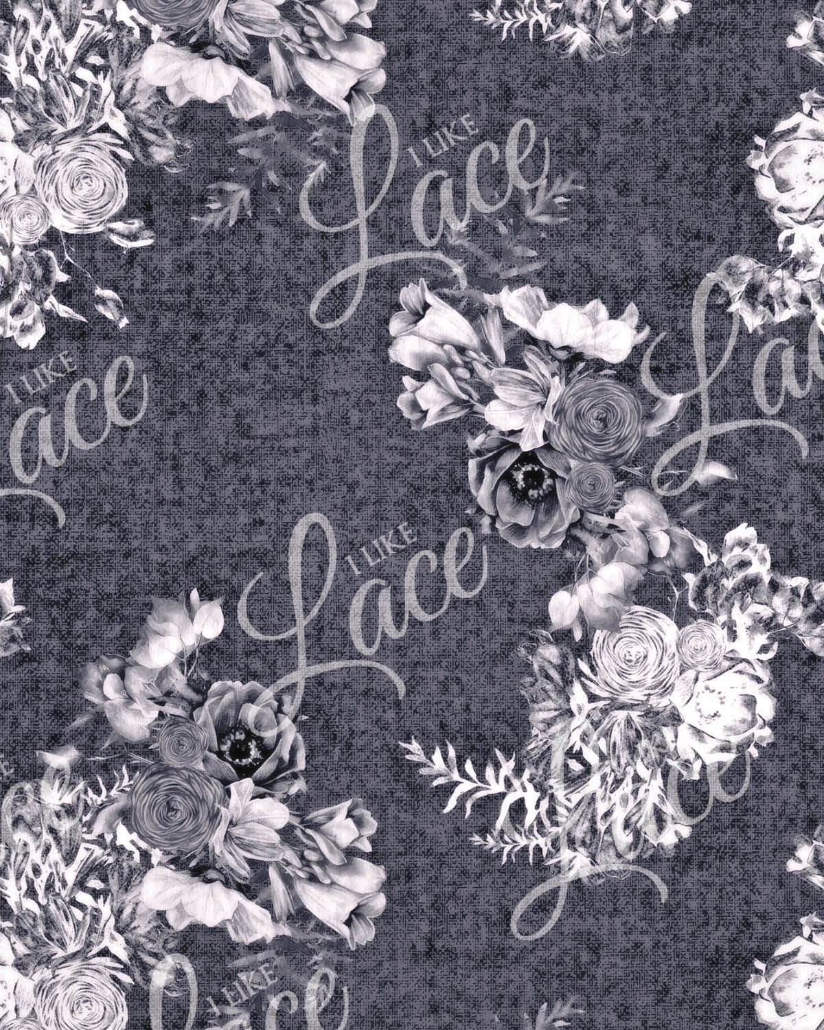 anna cornflower floral french terry fabric