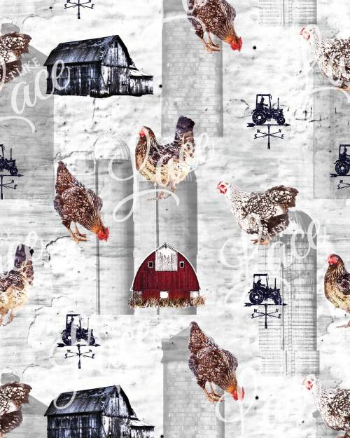 farm chicken knit fabric for clothing