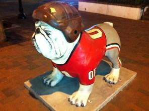 UGA Bulldog in downtown