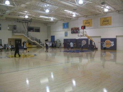 Lakers practice