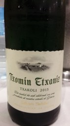 Traditional Basque drink: Txakoli. Highly recommended