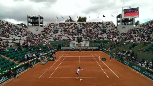 Playing against Serena Williams at Roland Garros 2014