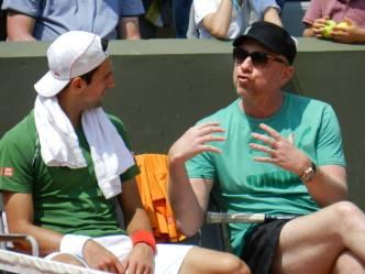 Roland Garros 2014 with coach Boris Becker