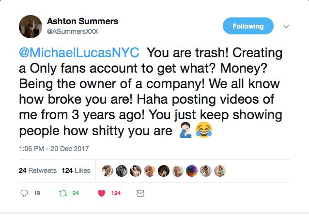 Ashton tweet pinga news Ashton Summers returned