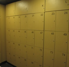 locker room at the most popular gay sauna in Salvador