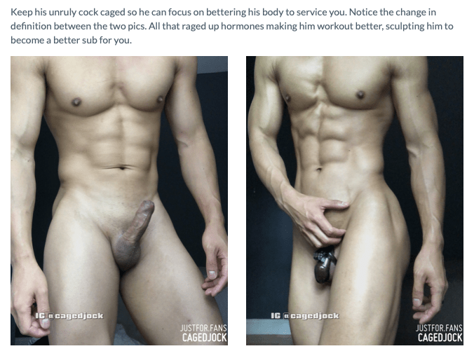 Caged Jock frontal with and without cage