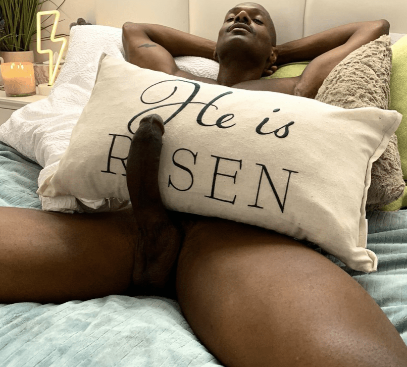 Rhyheim Shabazz with pillow he is risen