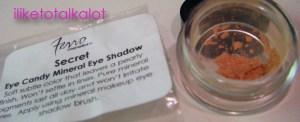 ferro cosmetics mineral eye shadow Secret
